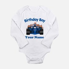 Birthday Boy Car Long Sleeve Infant Bodysuit