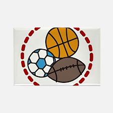 Sport Balls Rectangle Magnet