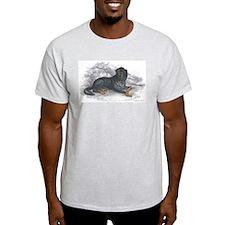 Mastiff Dog (Front) Ash Grey T-Shirt