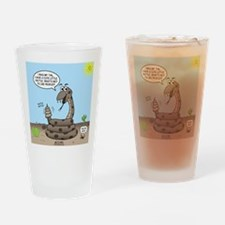 Rattlesnake Popularity Drinking Glass