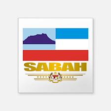 """Sabah (Flag 10)2.png Square Sticker 3"""" x 3"""""""