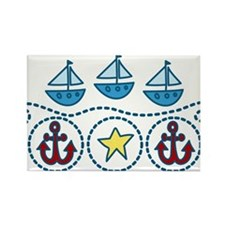 Sailboats Rectangle Magnet