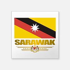 "Sarawak (Flag 10)2.png Square Sticker 3"" x 3"""