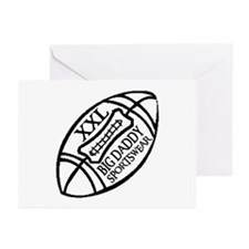 BIG DADDY XXL FOOTBALL Greeting Cards (Package of