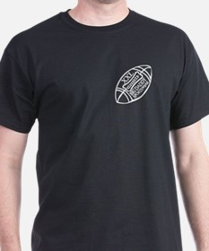 BIG DADDY XXL FOOTBALL Black T-Shirt