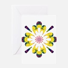 Omm Wow Flower Greeting Card