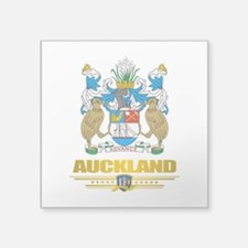 "Auckland (Flag 10)2.png Square Sticker 3"" x 3"""