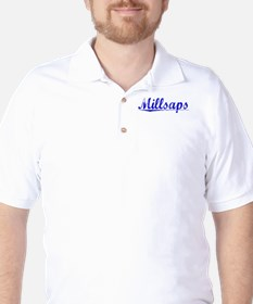 Millsaps, Blue, Aged Golf Shirt