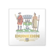 "Dunedin (Flag 10) 2.png Square Sticker 3"" x 3"""