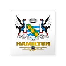 "Hamilton (Flag 10) 2.png Square Sticker 3"" x 3"""