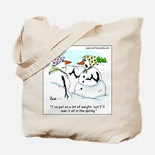 Dieting Snow Woman Tote Bag