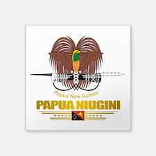 Papua New Guinea COA (Flag 10)2.png Square Sticker