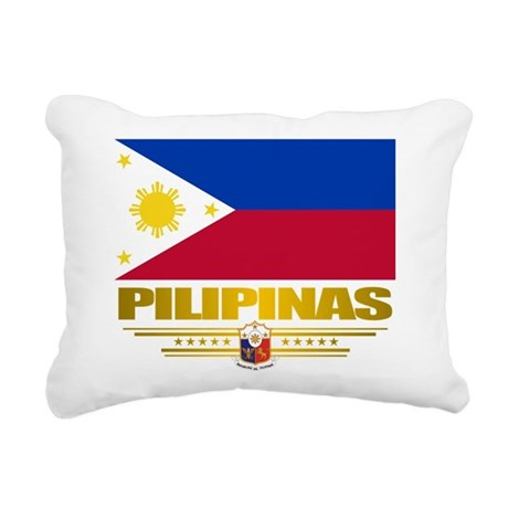 Philippines (Flag 10) 2.png Rectangular Canvas Pil