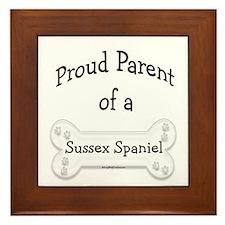Proud Parent of Sussex Spaniel Framed Tile