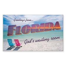 Florida God's Waiting Room - Rectangle Decal
