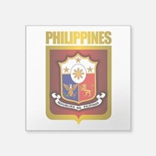 """Philippine Gold.png Square Sticker 3"""" x 3"""""""