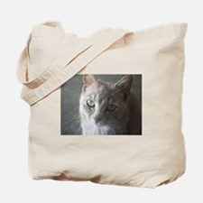 Grey Cat Tote Bag