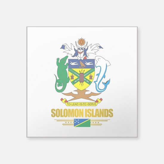 Solomon Islands COA (Flag 10)2.png Square Sticker