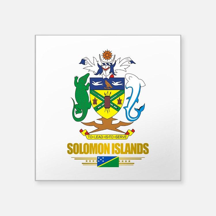 Solomon Islands COA (Flag 10)2.png Square Sticker