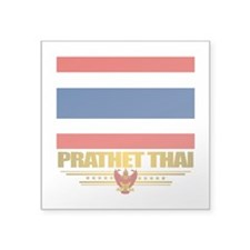 """Thailand (Flag 10)2.png Square Sticker 3"""" x 3"""""""