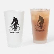 Bigfoot Rides Drinking Glass