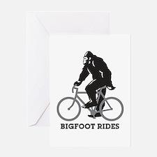 Bigfoot Rides Greeting Card