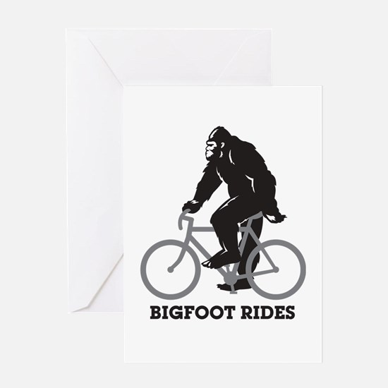 Bigfoot Rides Greeting Card