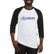 Morman, Blue, Aged Baseball Jersey