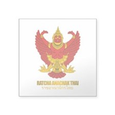 "Thailand COA (Flag 10).png Square Sticker 3"" x 3"""
