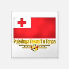 """Tonga (Flag 10)2.png Square Sticker 3"""" x 3"""""""