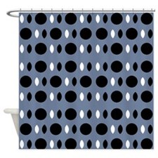 Chic Gray Black Perception Designer Shower Curtain