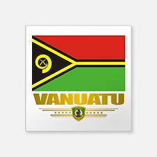 """Vanuatu (Flag 10)2.png Square Sticker 3"""" x 3"""""""