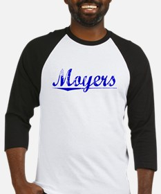 Moyers, Blue, Aged Baseball Jersey