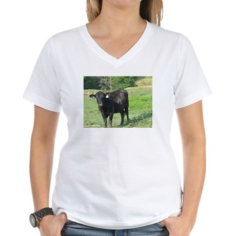 Moo Women's V-Neck T-Shirt