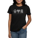 Peace Love Arizona Women's Dark T-Shirt