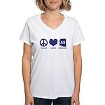 Peace Love Arizona Women's V-Neck T-Shirt