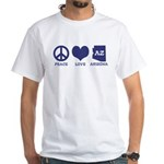 Peace Love Arizona White T-Shirt