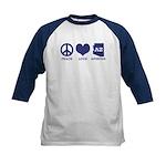 Peace Love Arizona Kids Baseball Jersey