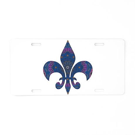 Alchemy Fleur De Lys Aluminum License Plate