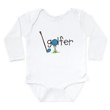 Golfer Long Sleeve Infant Bodysuit