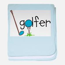 Golfer baby blanket