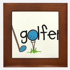 Golfer Framed Tile