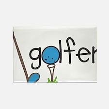 Golfer Rectangle Magnet