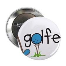 "Golfer 2.25"" Button"