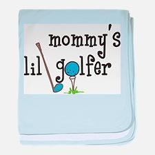 Mommys Lil Golfer baby blanket