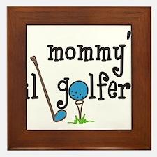 Mommys Lil Golfer Framed Tile