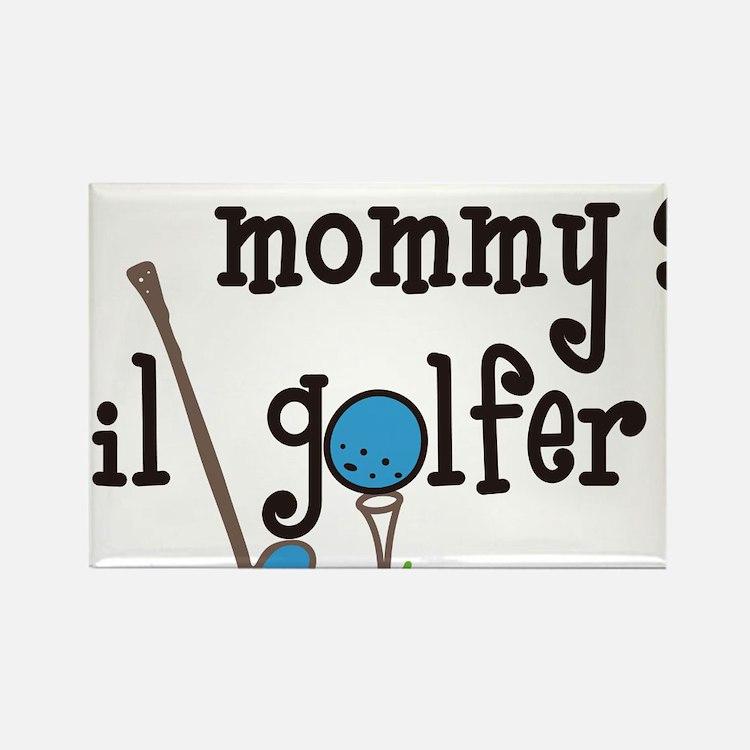 Mommys Lil Golfer Rectangle Magnet