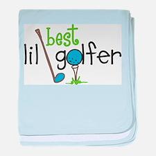Best Lil Golfer baby blanket