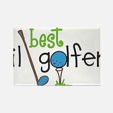 Best Lil Golfer Rectangle Magnet