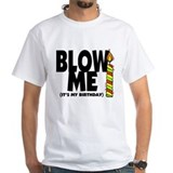 Birthday Mens White T-shirts
